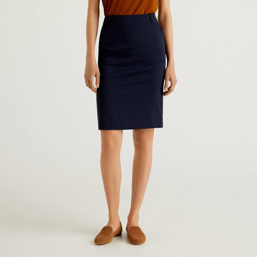 Pencil skirt in stretch fabric
