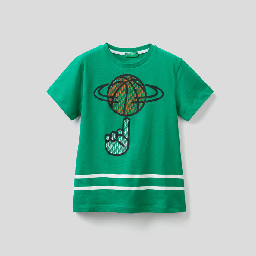 Cotton t-shirt with 3D print
