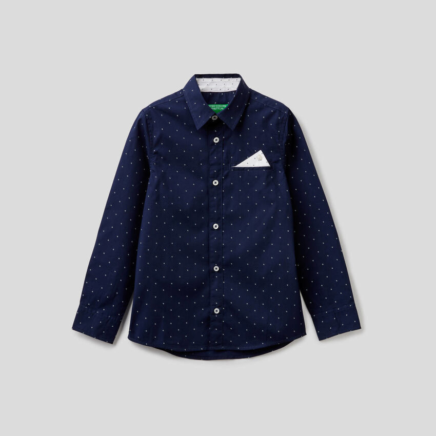 100% cotton shirt with micro pattern