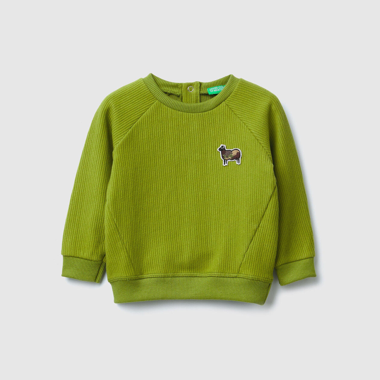 Crew neck sweatshirt with patches