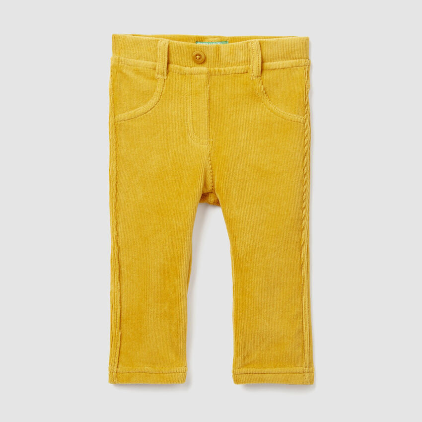 Ribbed chenille trousers