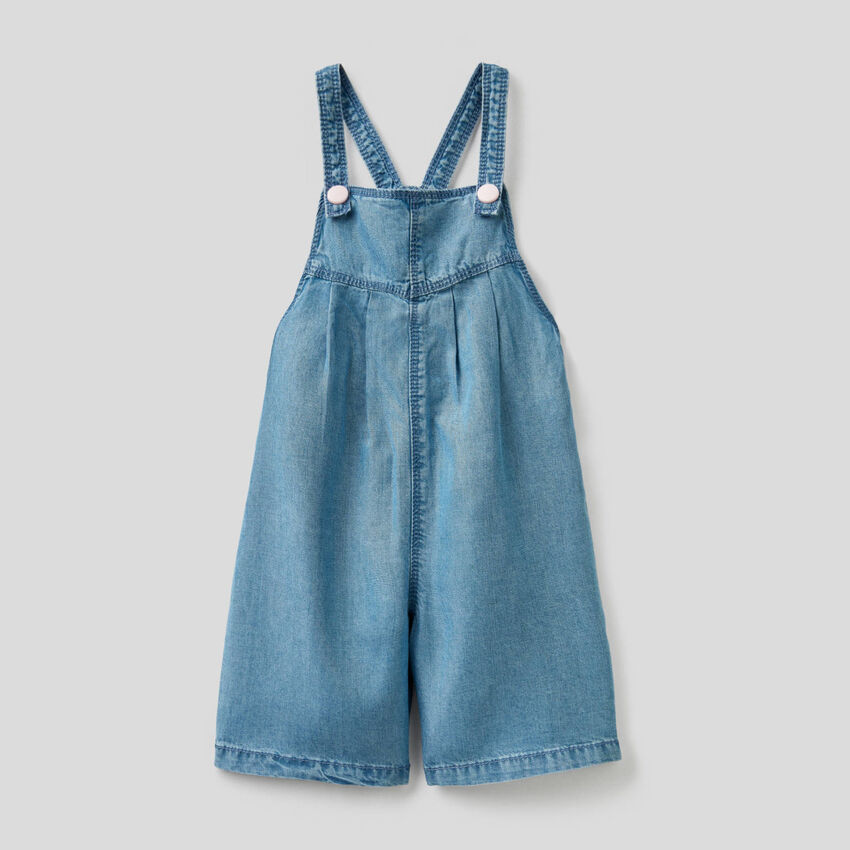 Overalls with wide leg