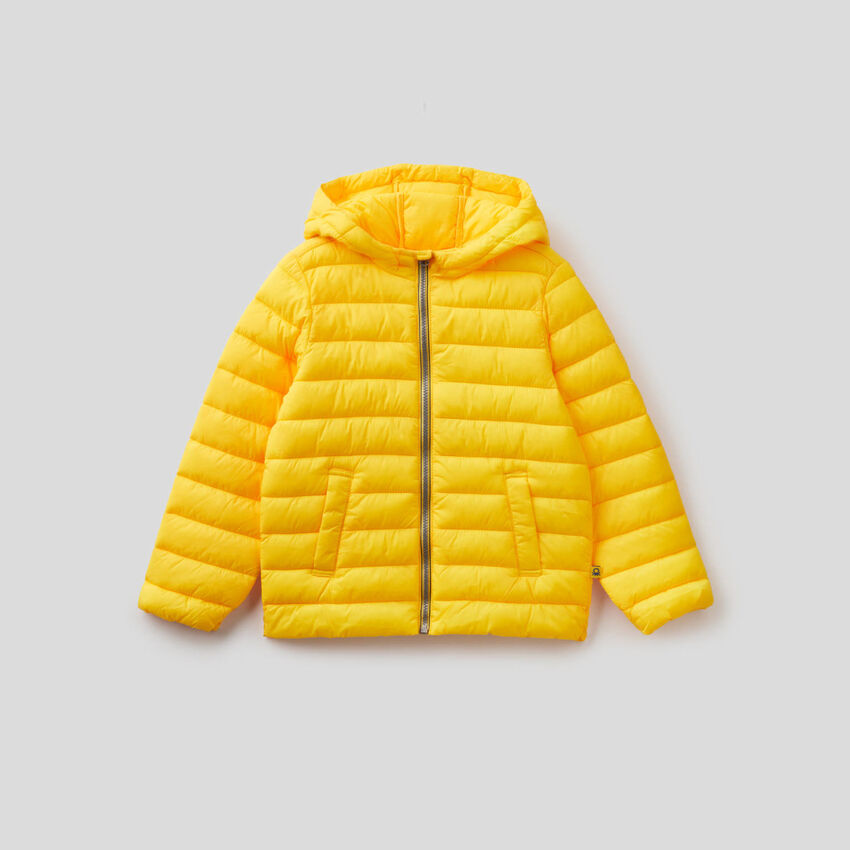 Jacket with hood in technical fabric