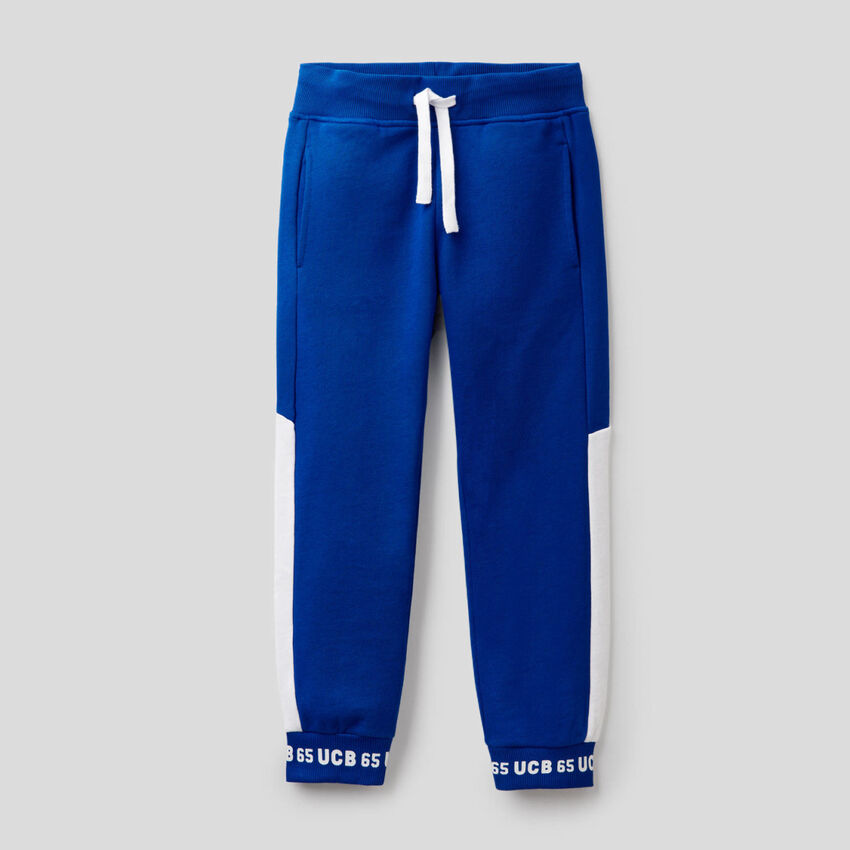 Pants in 100% sweat cotton