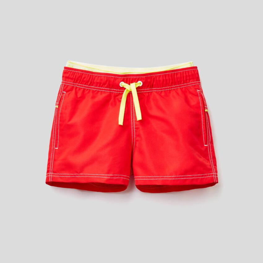 Swim trunks with double waist