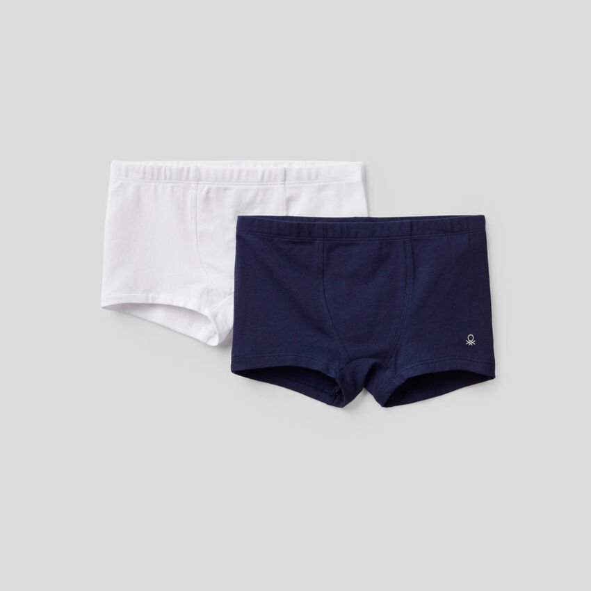 Two pairs of boxers in stretch cotton