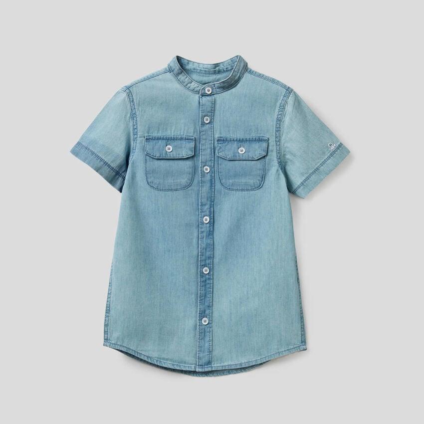 Shirt in 100% cotton denim