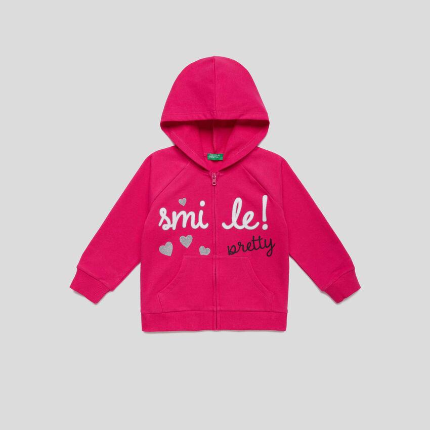 Glittery print sweatshirt