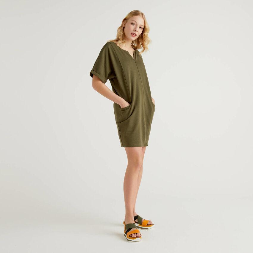 Dress in light sweat