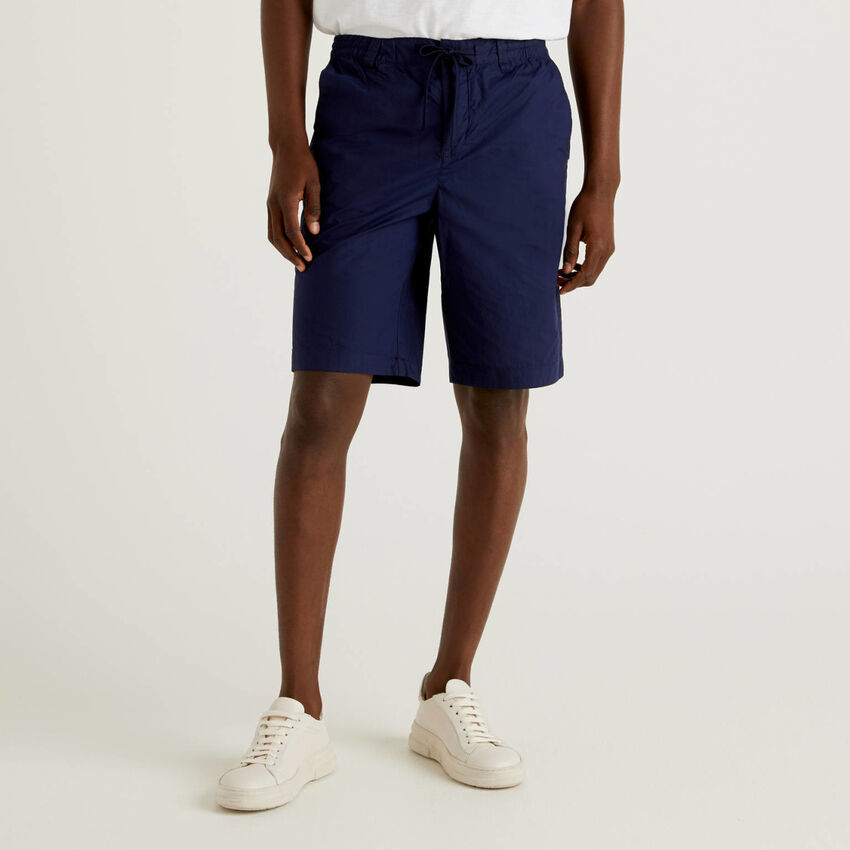 100% cotton shorts with drawstring