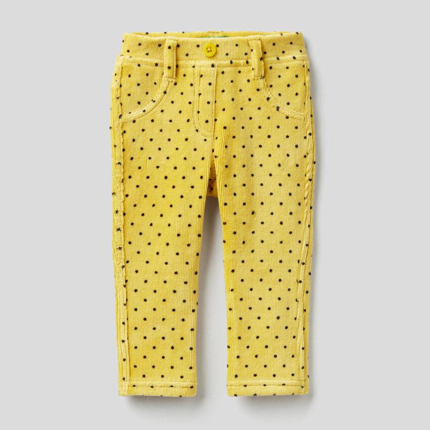 Printed chenille leggings