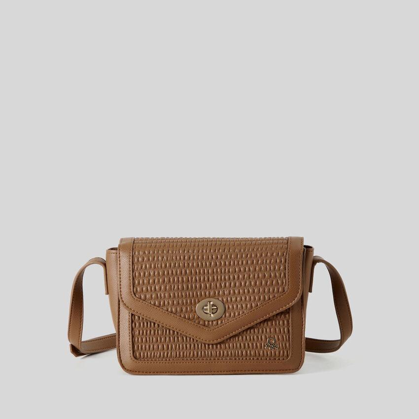 Leather look crossbody bag