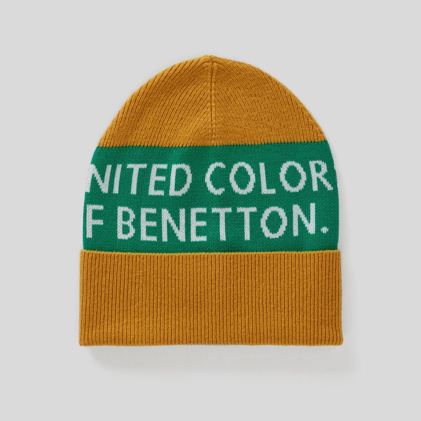 Cotton and wool hat