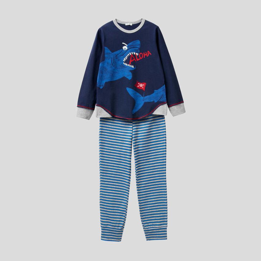 Pyjamas with neon print
