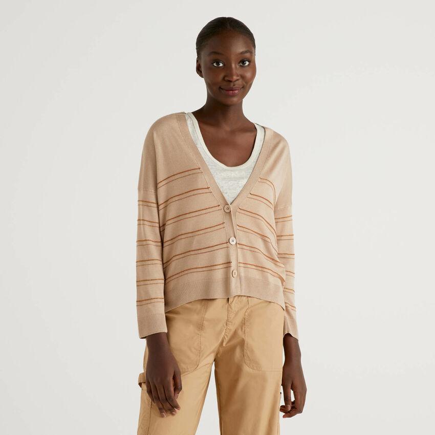 Silk blend cardigan