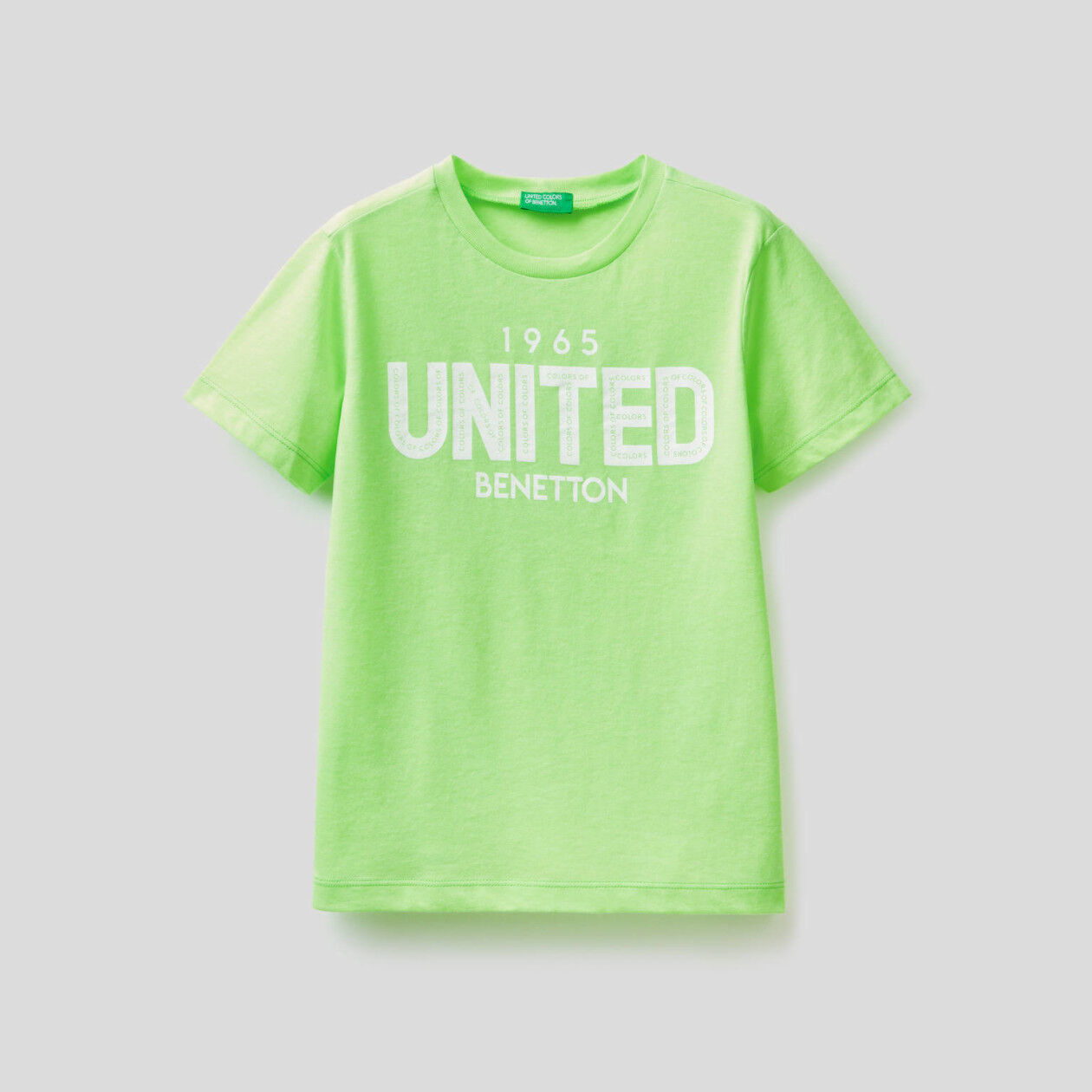 Neon t-shirt with logo print
