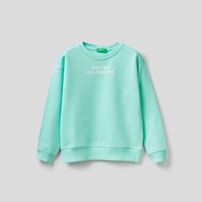 Pure cotton printed sweatshirt