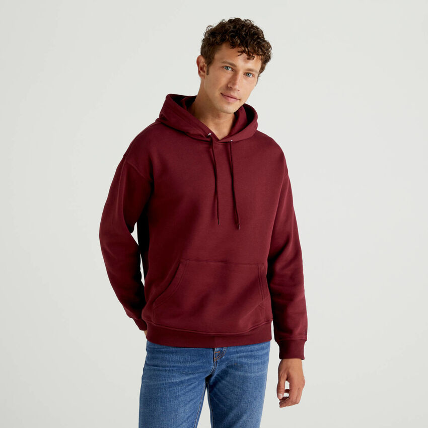 Hoodie in cotton blend