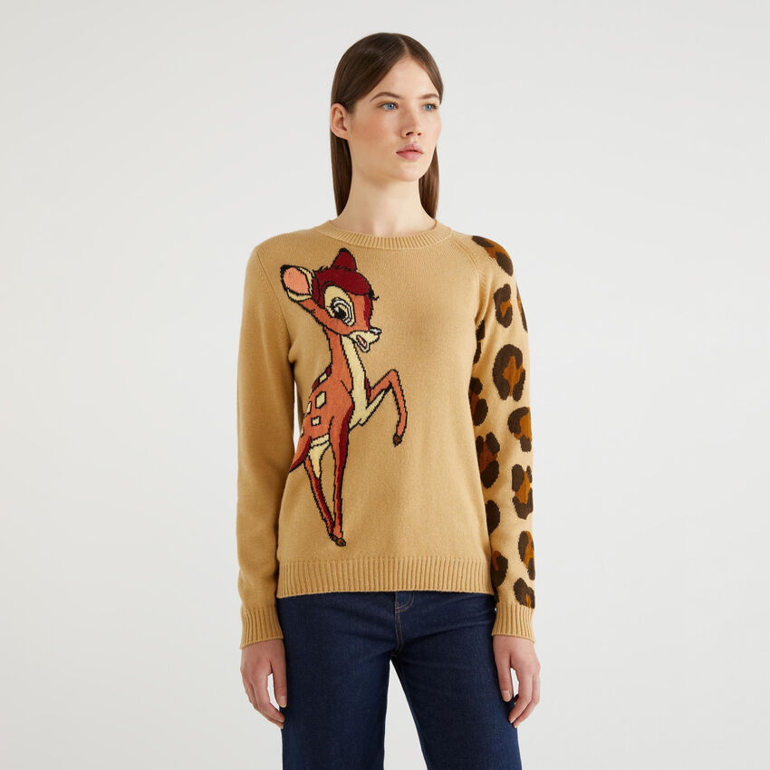 """Sweater with """"Bambi"""" inlay"""