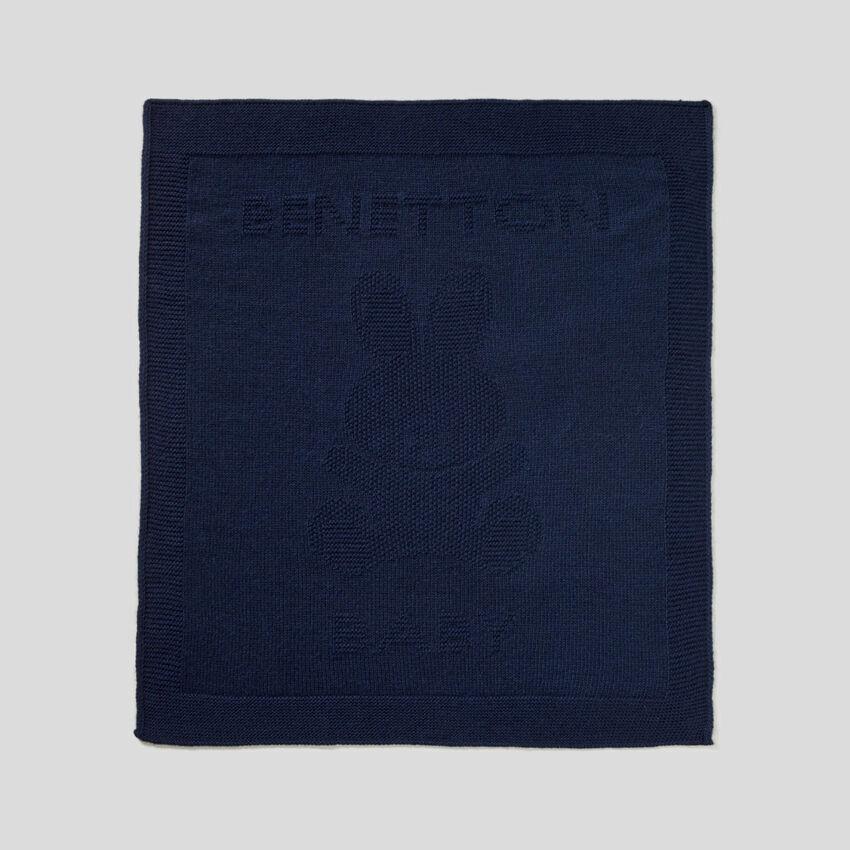Blanket in wool blend