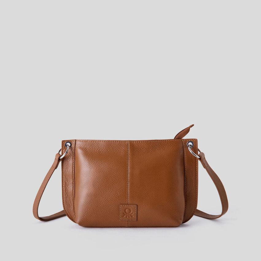 Crossbody bag in genuine leather