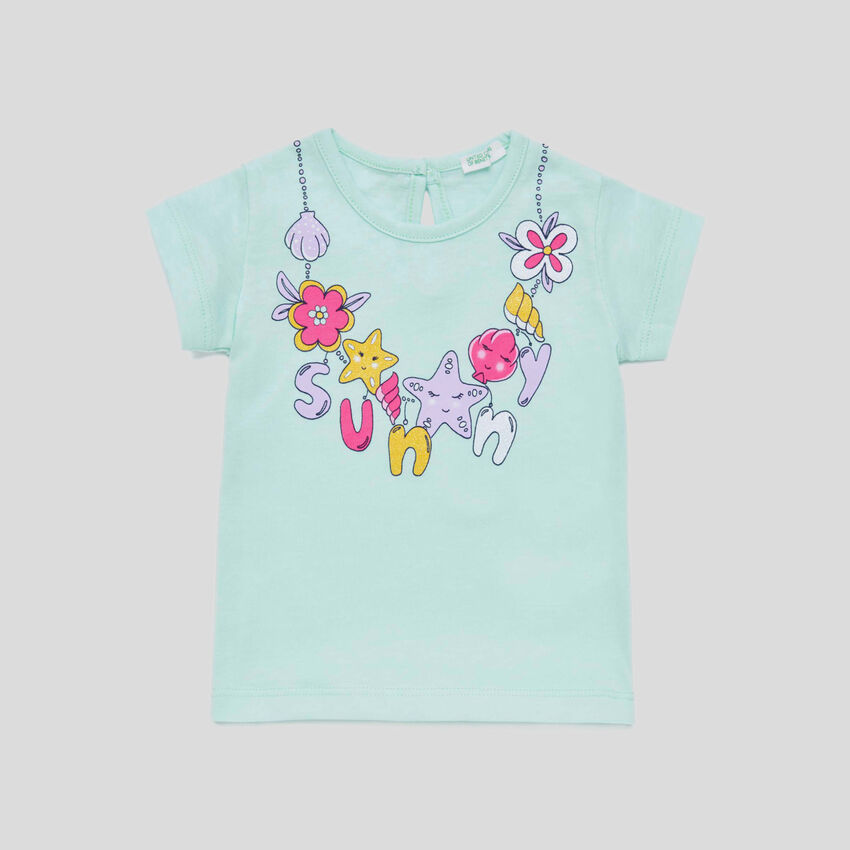 T-shirt with watercolor print