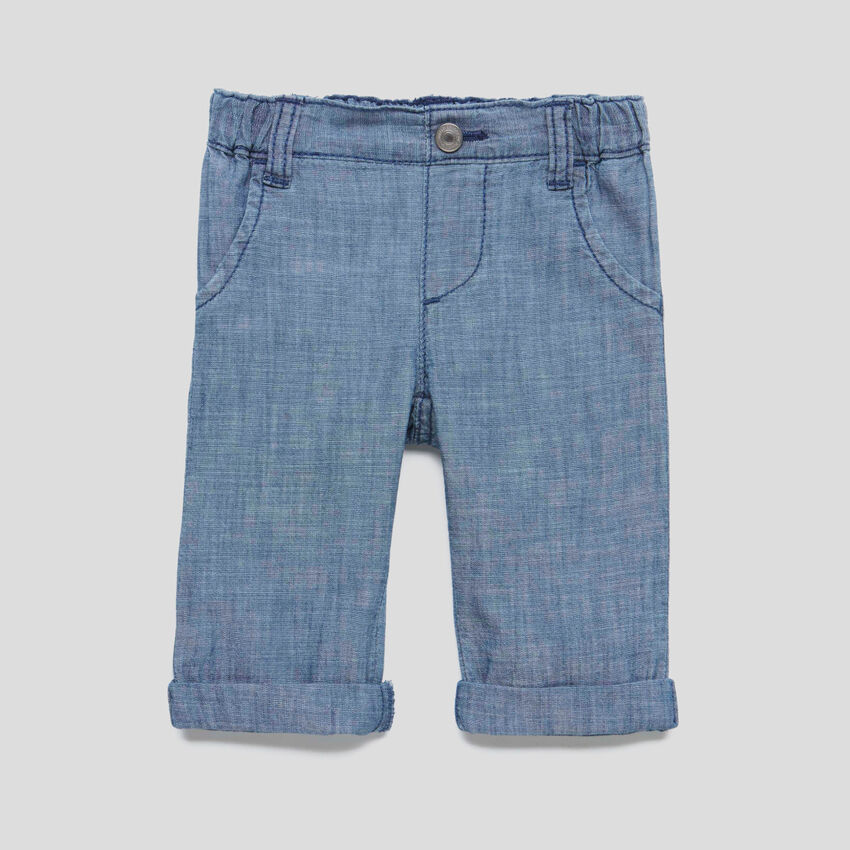 Pants in chambray