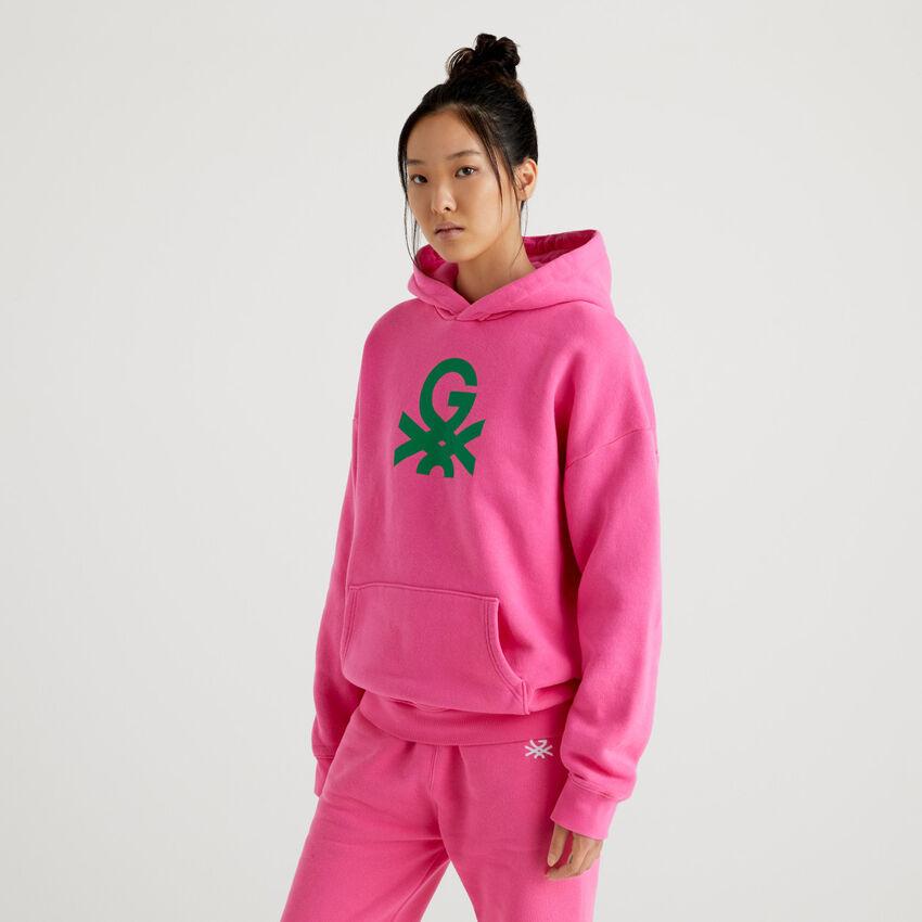 Fuchsia unisex hoodie by Ghali
