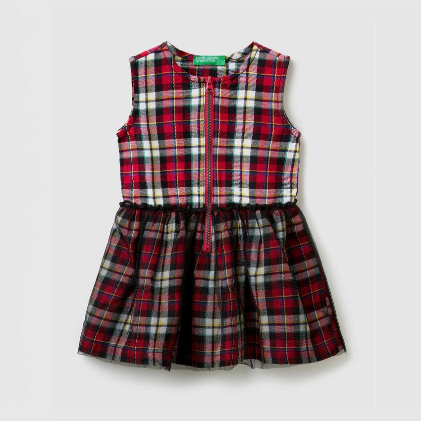 Sleeveless check dress