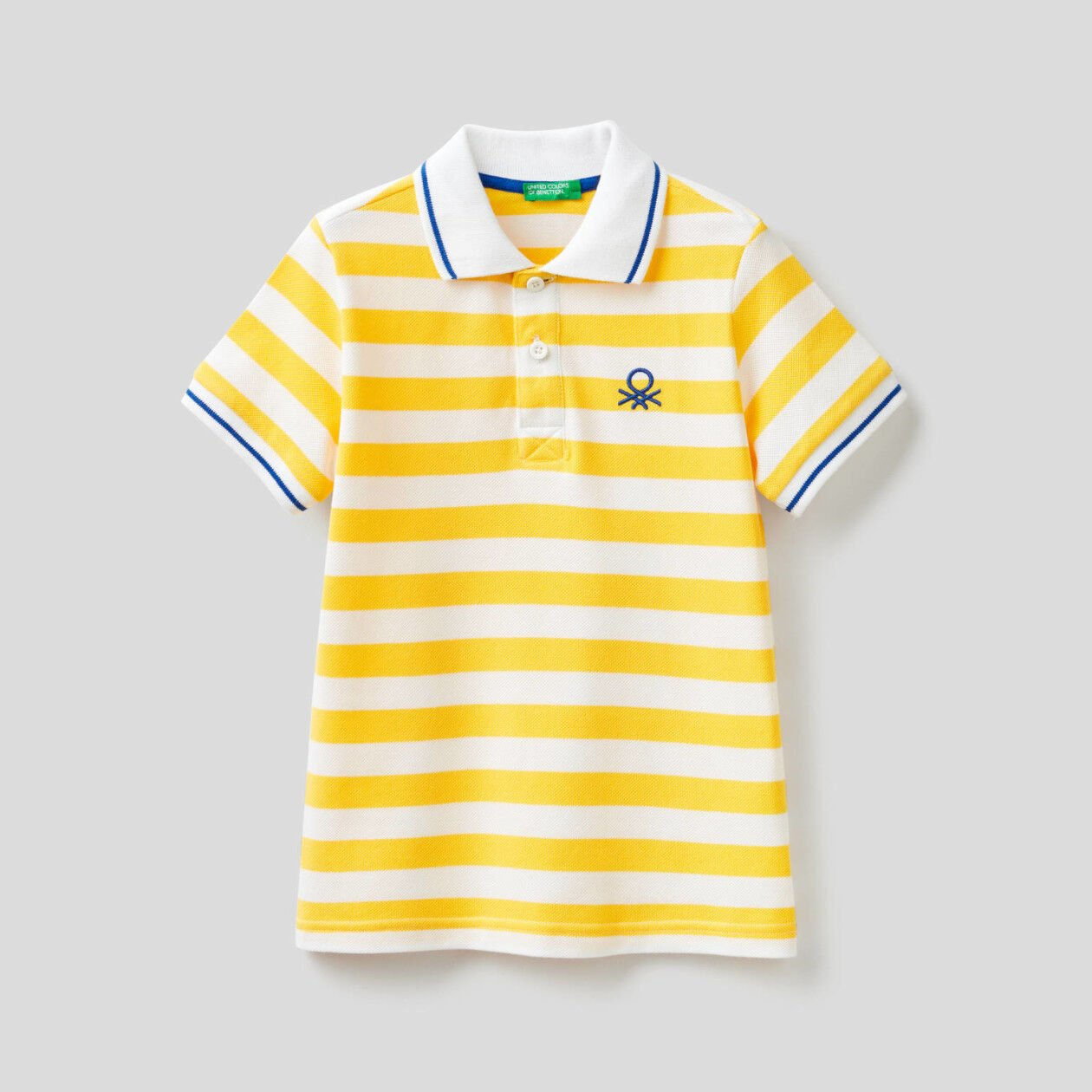 Short sleeve polo with stripes