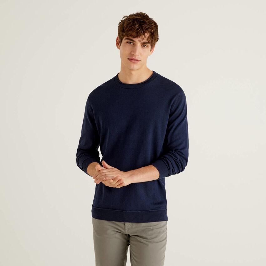 Sweater in warm 100% cotton