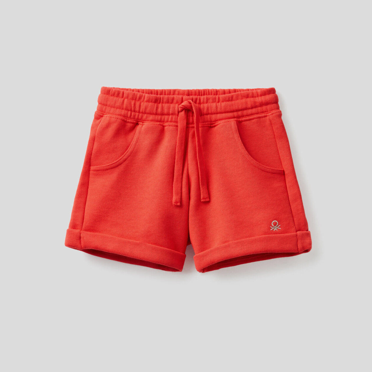 Sweat shorts in stretch cotton
