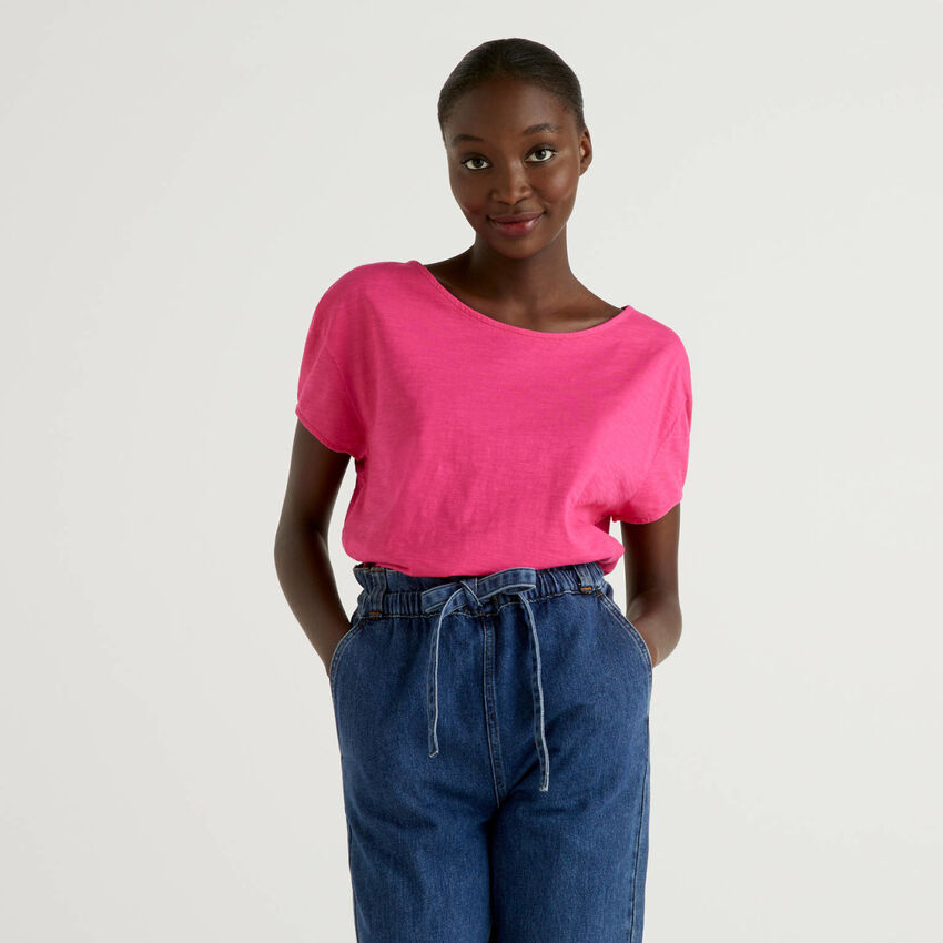 Oversized t-shirt in pure cotton