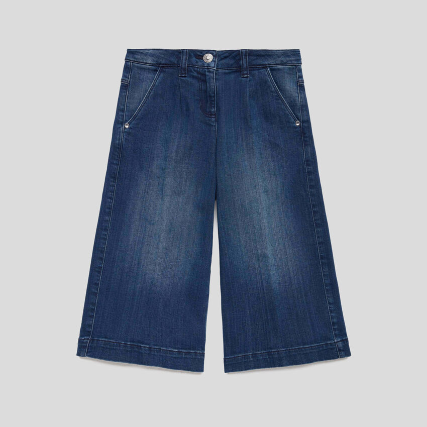 Flared 3/4 jeans