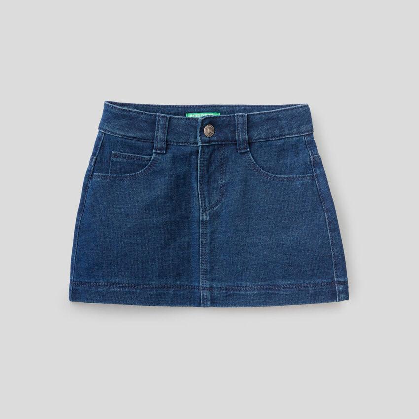 Mini skirt in denim look sweat