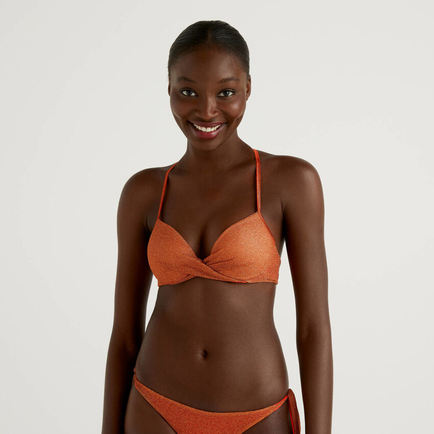 Push up swimsuit with lurex