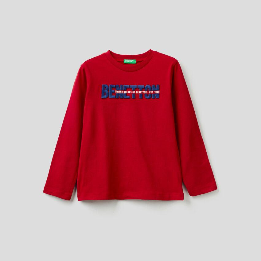 Long sleeve 100% organic cotton t-shirt