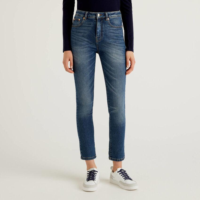 Skinny jeans in stretch cotton denim