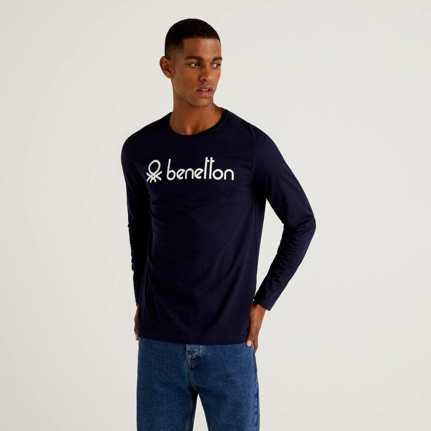 Long sleeve t-shirt with logo print