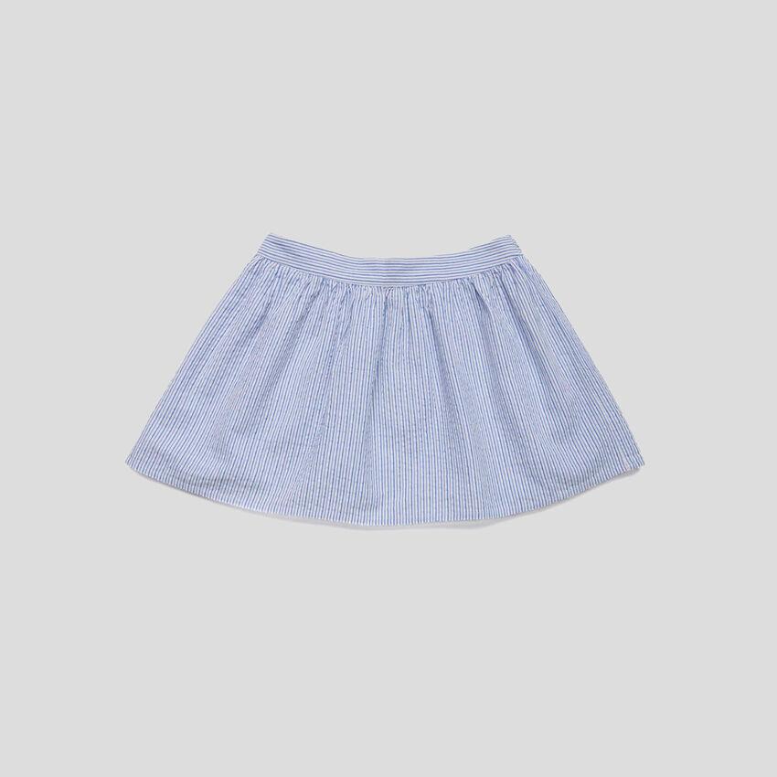 Flared striped skirt