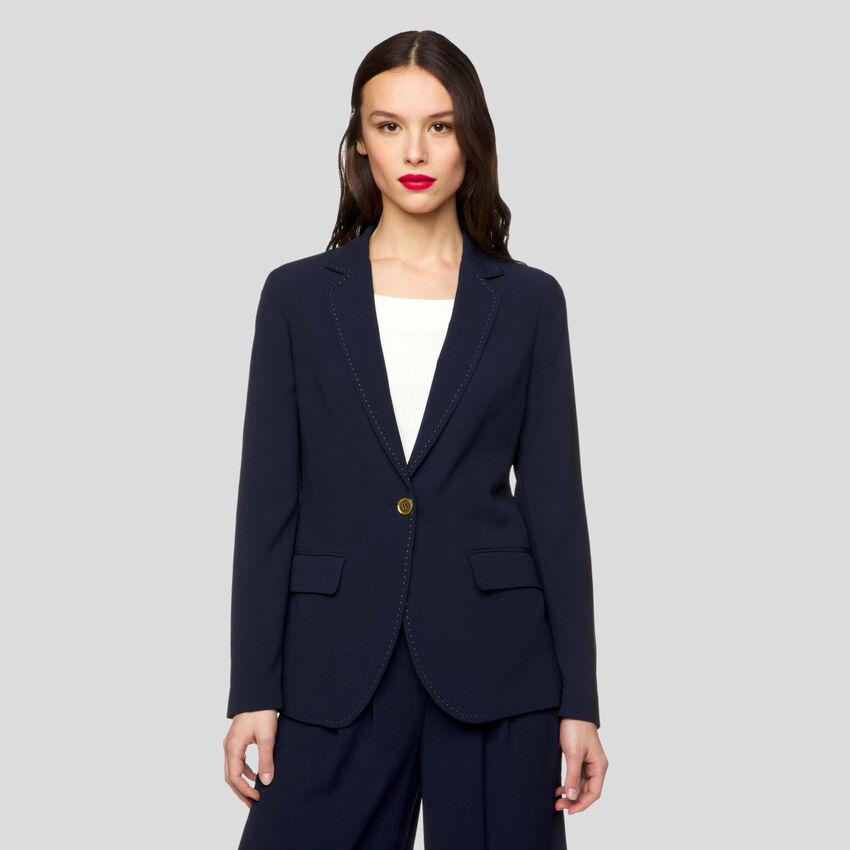 Flowy crepe jacket