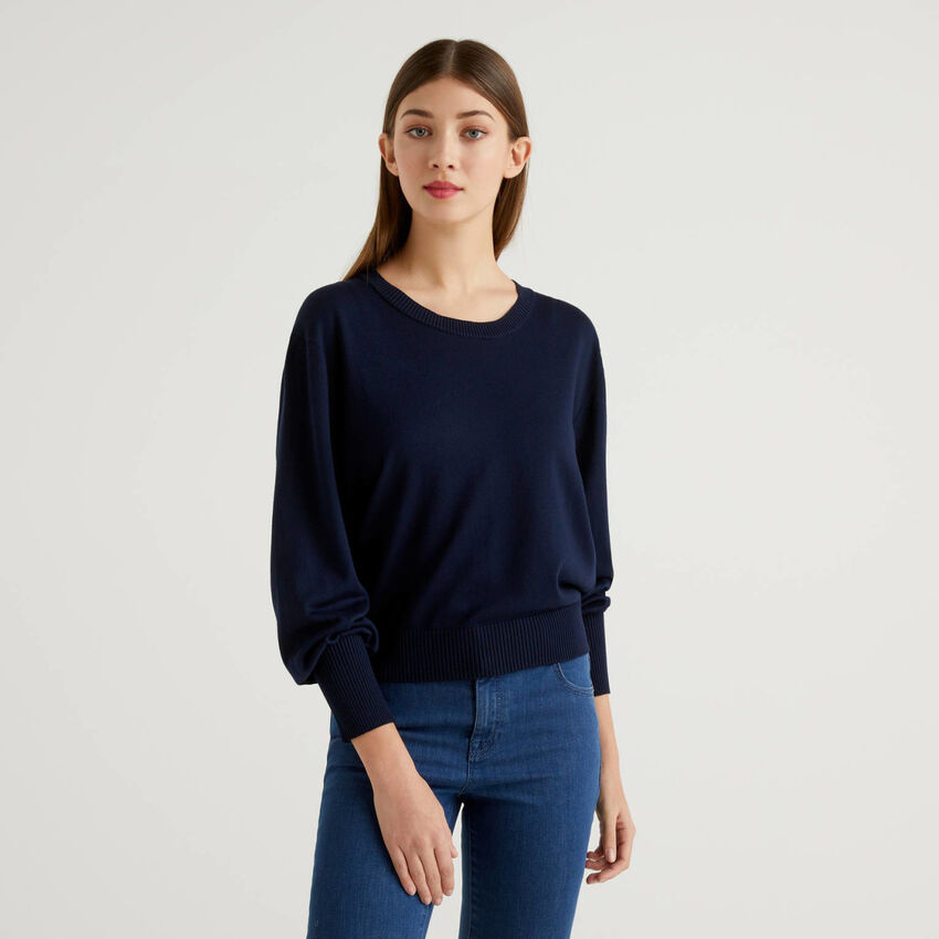 Sweater with puff sleeve