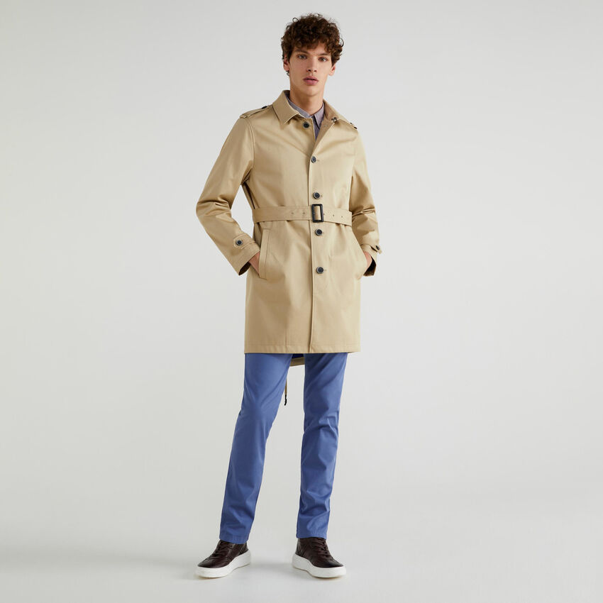 Lined trench coat